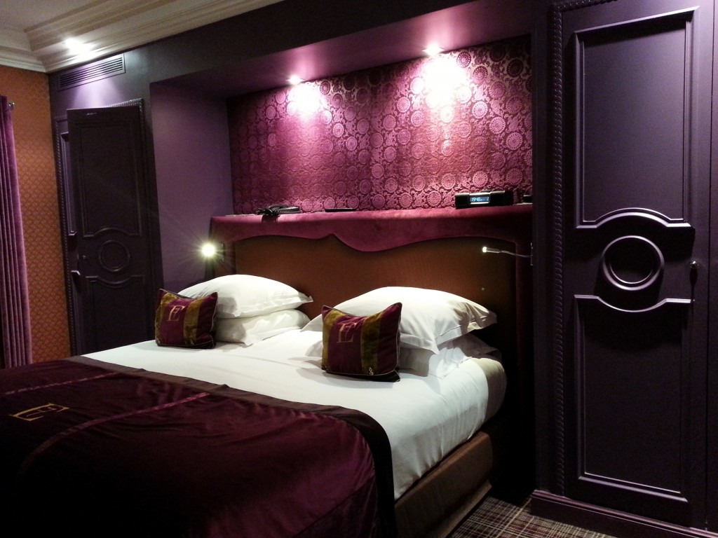 Hotel Edouard 7 purple suite