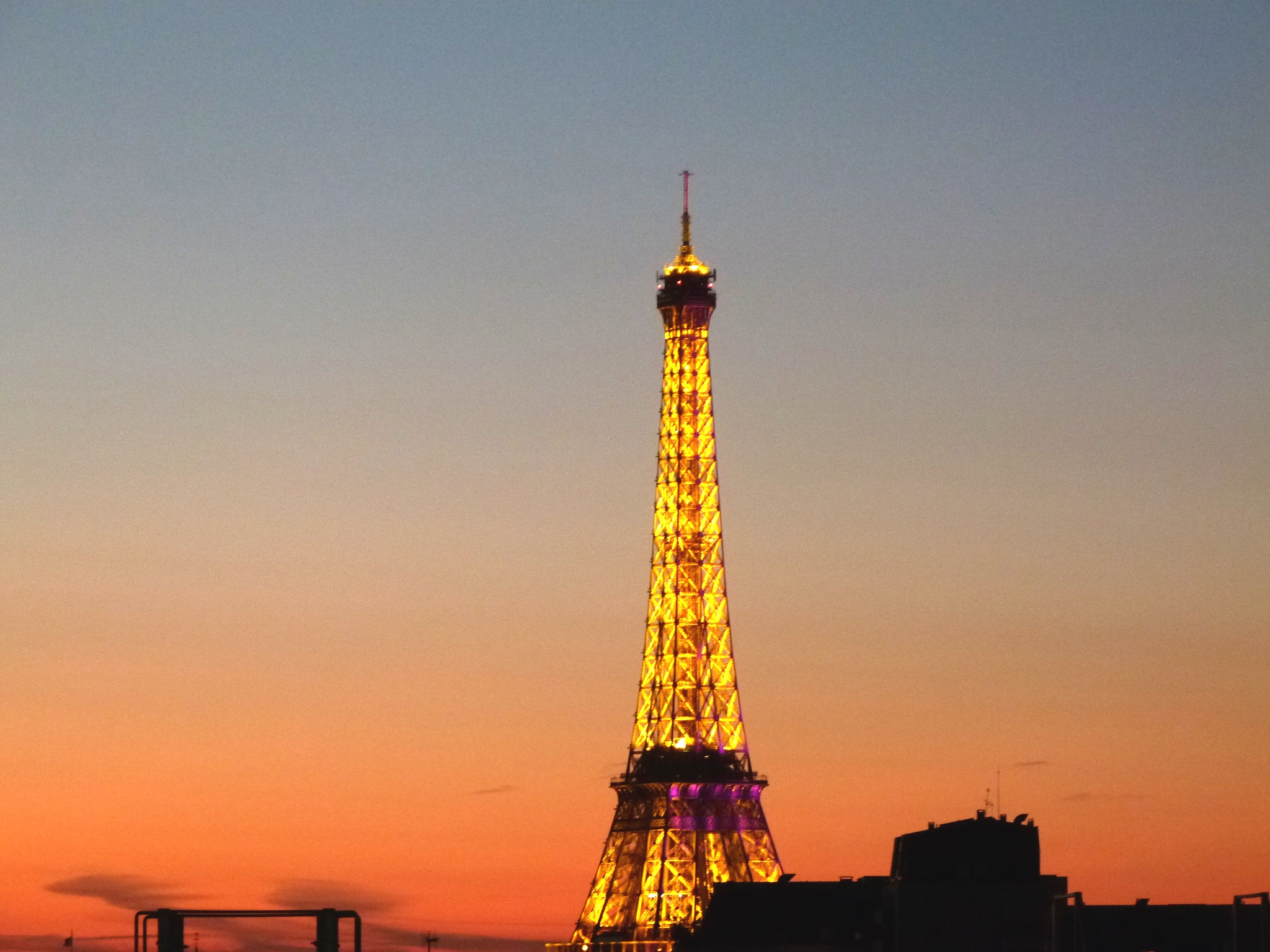 Eiffel Tower at Sunset PreteMoiParis