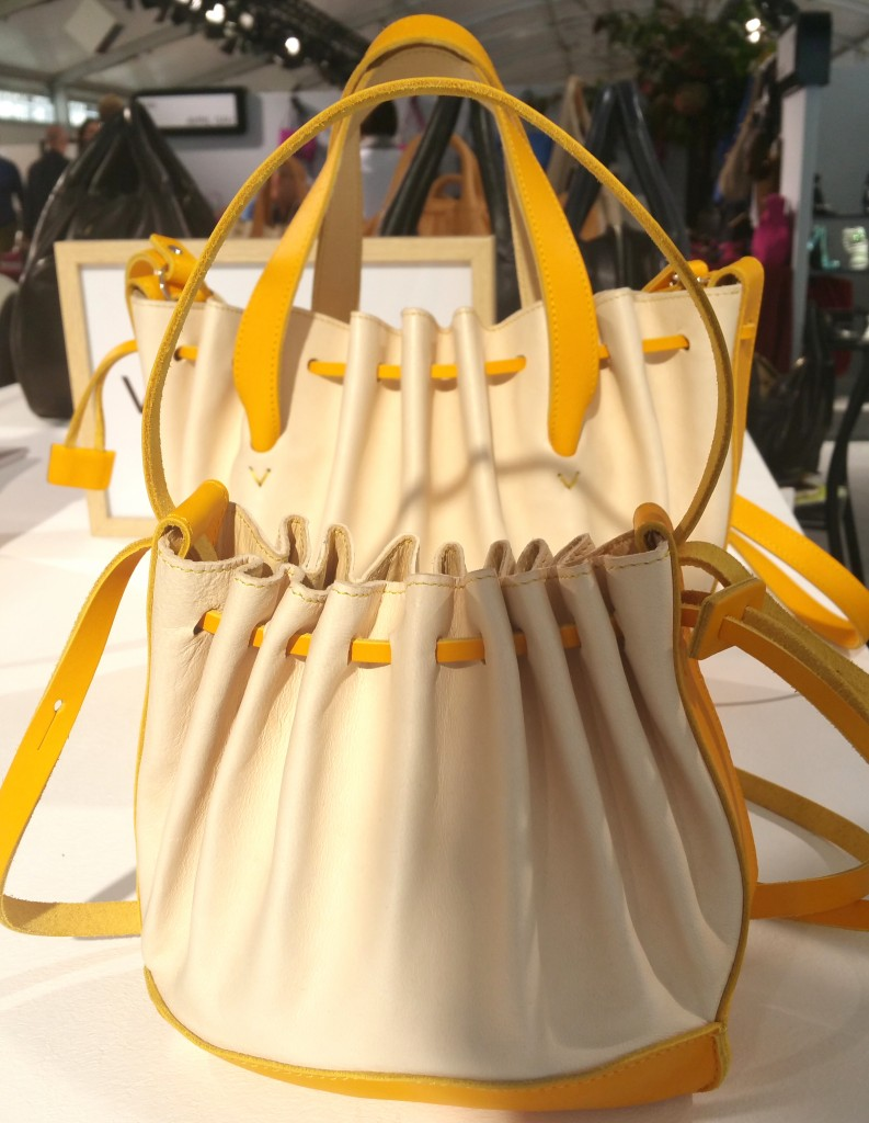 Yellow and white handbag Varennes